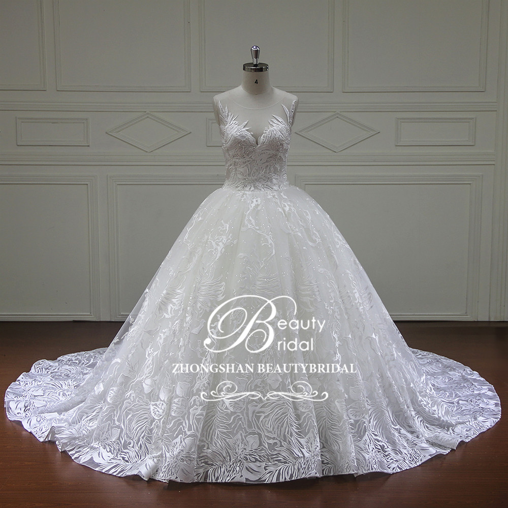 Sweetheart Wedding Dress With Cap Sleeves: Vestido De Noiva Sweetheart See Through Wedding Dresses