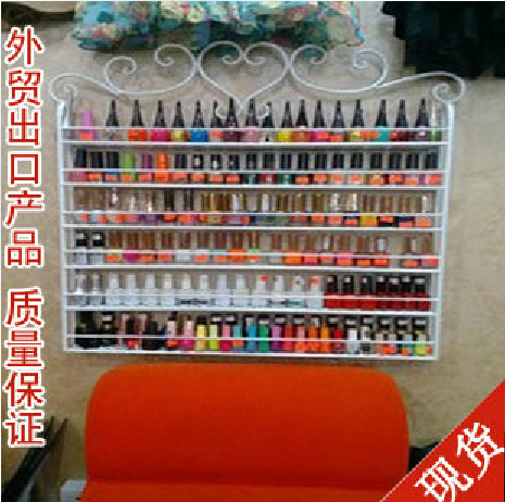 Iron nail polish rack nail oil store shelf wall shelving cosmetic cream display cabinets