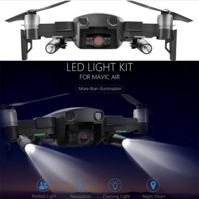 US $39 9 |PGYTECH LED Light for DJI Mavic Air Portable Night Flight LED  Light Kit Lighting for DJI Mavic Air Drone Accessories-in Drone Accessories