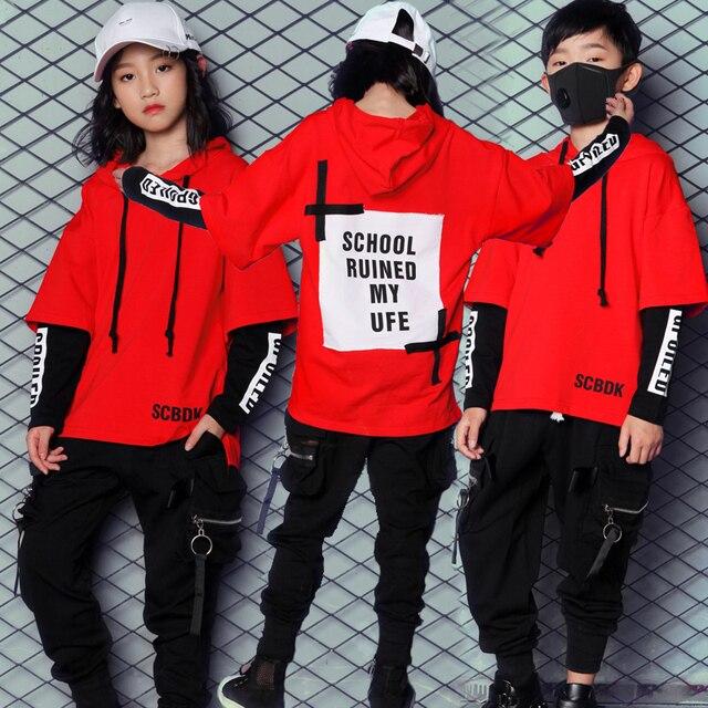 20f3b10d432f Новый корейский стиль хип-хоп Одежда для танцев для детей мальчиков и  девочек Для женщин