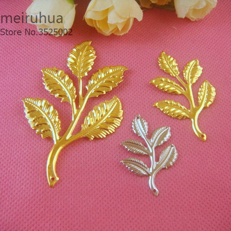 20 pcs/lot Metal Filigree Flowers Slice Charms base Setting Jewelry DIY Components Findings