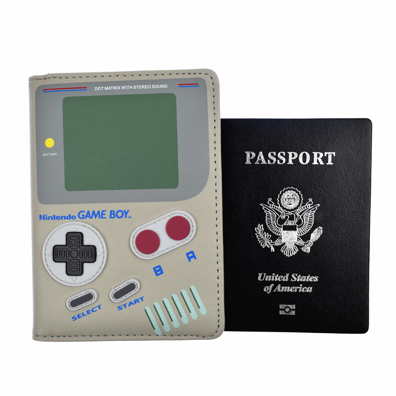 Hot Game Design Passport Cover Nintendo Super Mario Passport Cover High Quality PU Leather Passport Holder Case