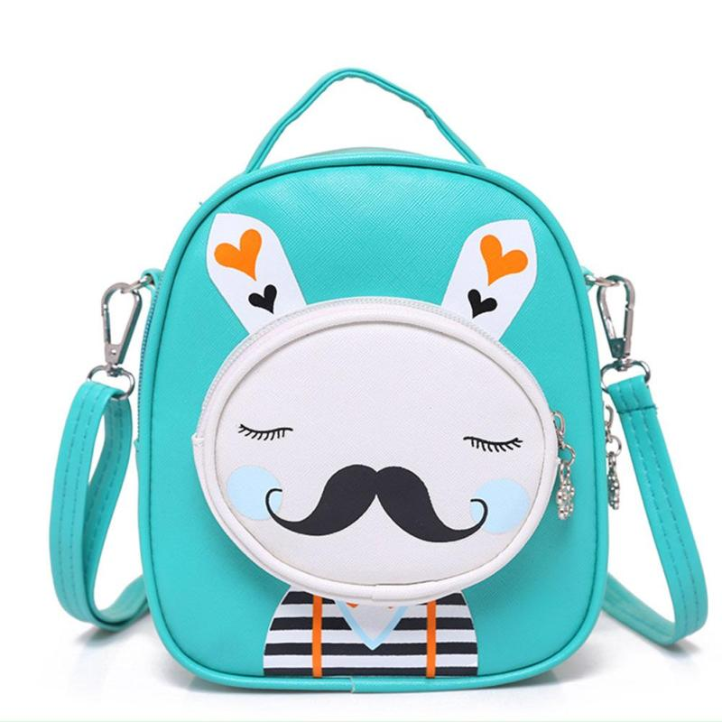 2017 Cartoon Kids Pu Leather Backpacks Cute Little Beard Mini Schoolbag Kindergarten Backpack Children Bags Girls Boys Backpack hot fashion design personality little bear women backpacks cute character shapes cartoon girls schoolbag casual shoulder bag