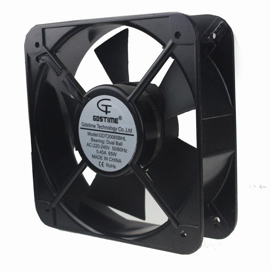 3 pièces Gdstime 220 V 240 V 20060 200x200x60mm 20 cm boîtier de Ventilation en métal refroidissement 200mm AC ventilateur