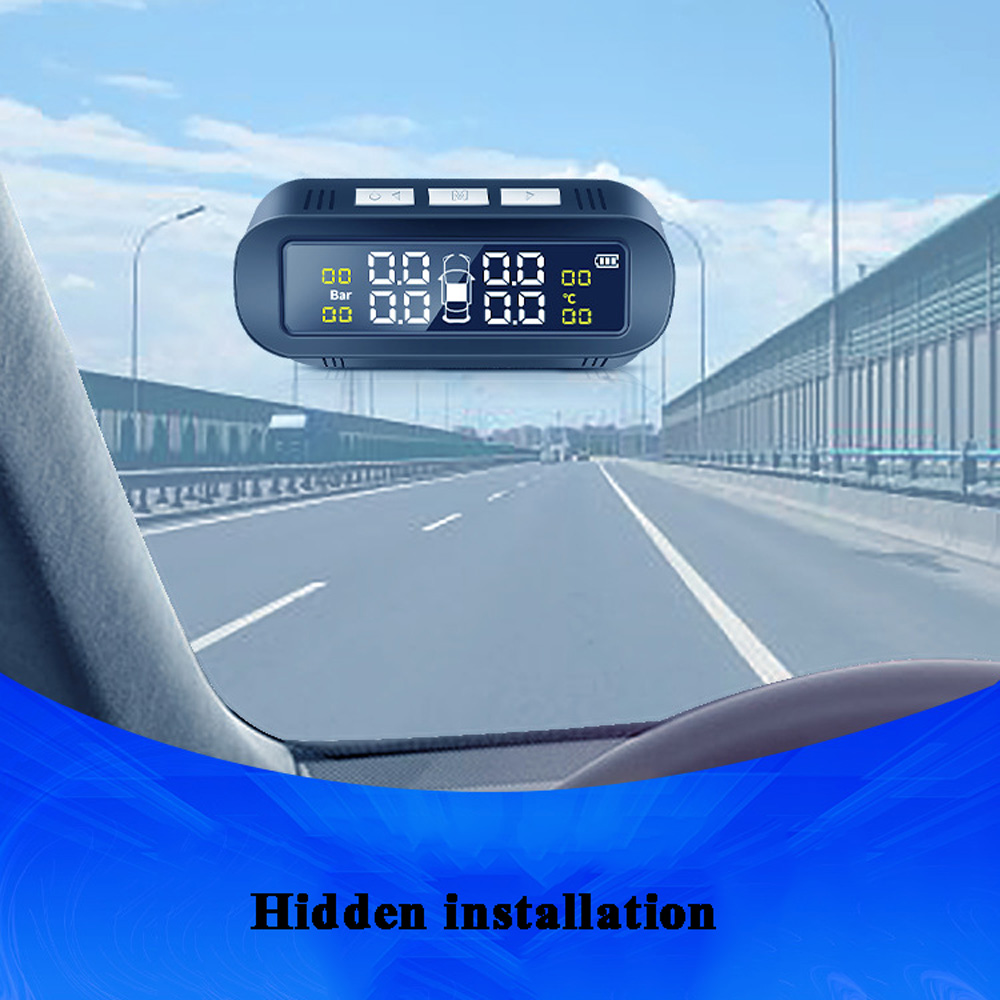 Drahtlose Solar TPMS Auto Tire Pressure Monitoring System Display Smart Temperatur Warnung Externe/Interne 4 Sensoren tpms