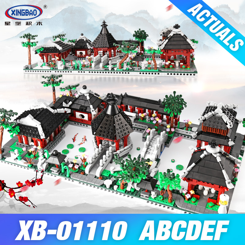 XingBao 01110 Chinese Suzhou GardenToys Building Series The 6 in 1 Model Set Building Blocks Bricks Toys Educational Kids Gifts time series model building on climate data in sylhet
