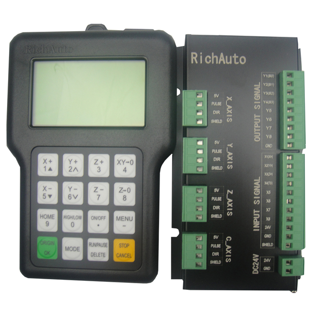 RICHAUTO DSP controller A11 complete set English letters panel for 3 axis cnc machine 1