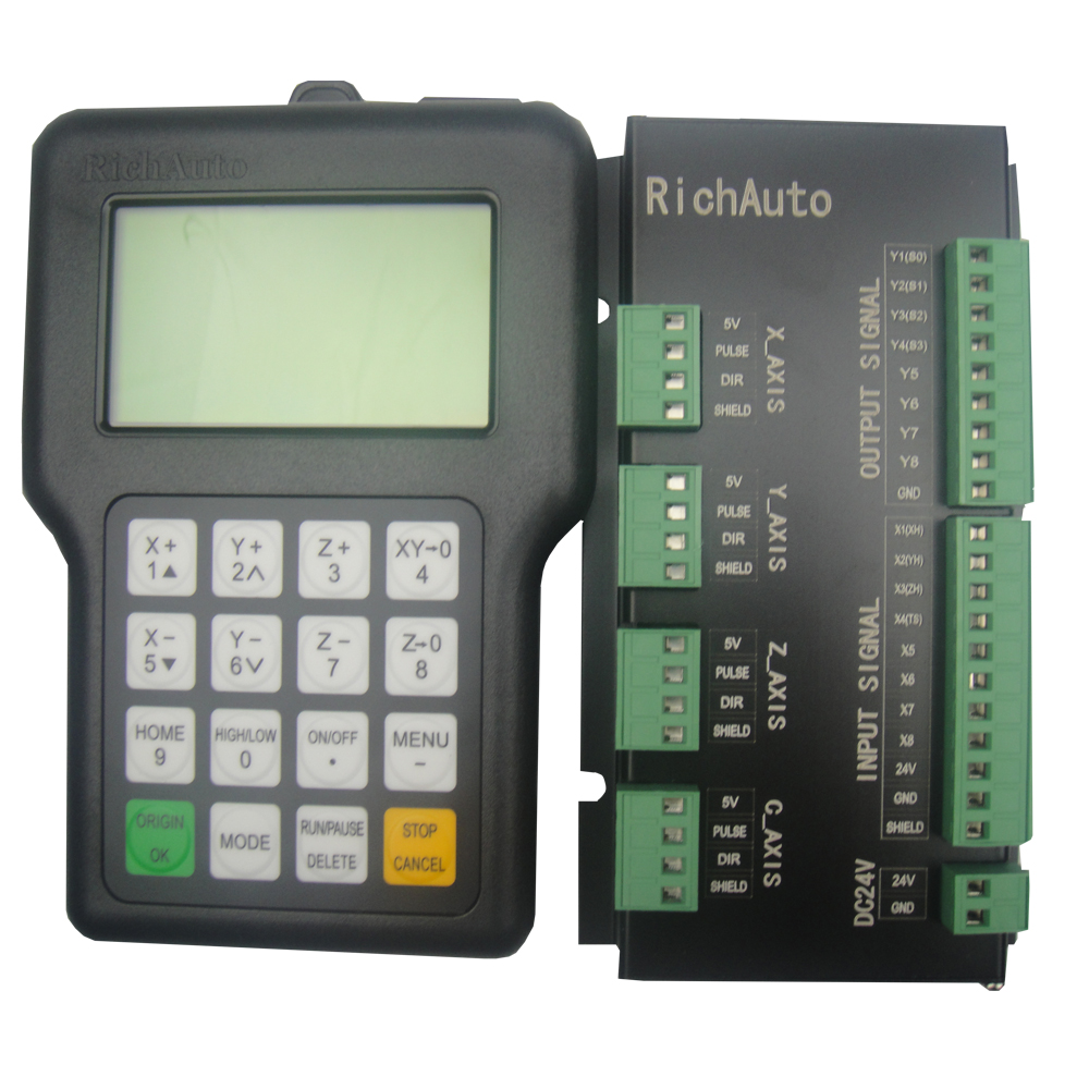 RICHAUTO DSP controller A11 complete set English letters panel for 3 axis cnc machine - 2