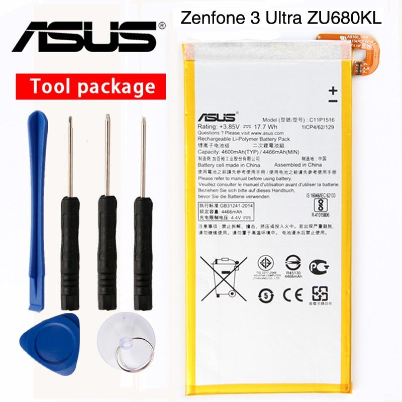 Original ASUS High Capacity C11P1516 Battery For ASUS Zenfone 3 Ultra ZU680KL A001 6.8