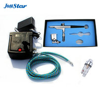 0.3MM Dual action airbrush compressor Complete kit for cake making toy Hobby models with mini filter AC06 32F