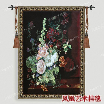 Art tapestry fashion wall hangings decoration flower pot  cotton fabric soft - large 138*100cm home textile product H235
