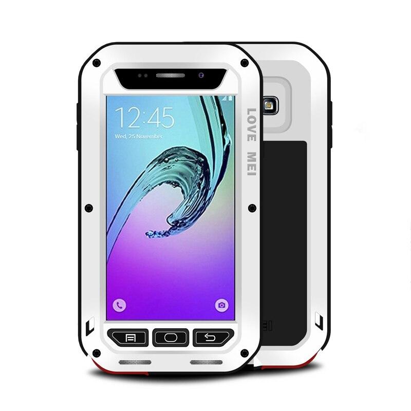 imágenes para Para Samsung A3 Caso 2016 Amor Mei De Aluminio De Lujo + de Silicona A Prueba de Golpes Caso Caja Del Teléfono protector Para Samsung A5 A7 A8 A9 cubierta