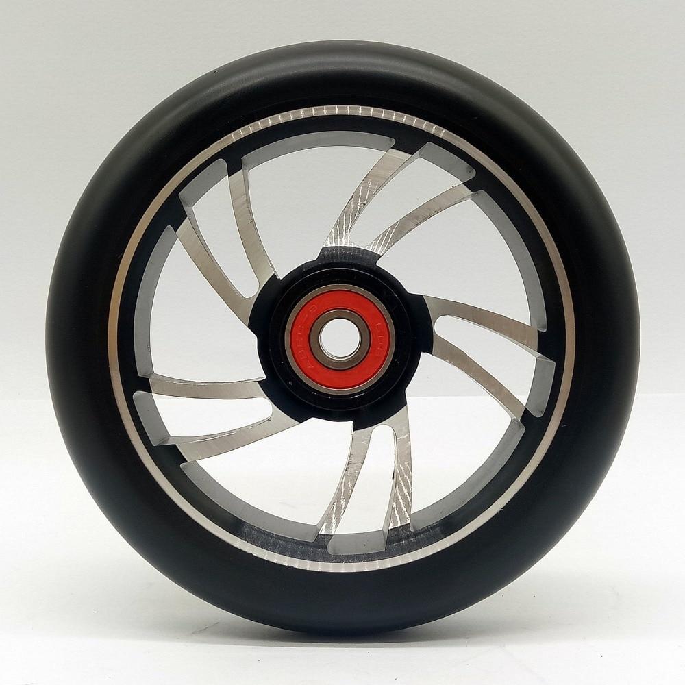 2 pièces Stunt Scooter Roues 120*24mm Haute élastique PU résistant à l'usure 88A Avec ABEC-9 Roulements Roues de Patins À Roulettes