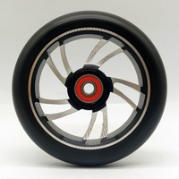 2PCS Stunt Scooter Wheels 120*24mm High elastic Wear-resisting PU 88A With ABEC-9 Bearings Roller Skates Wheels
