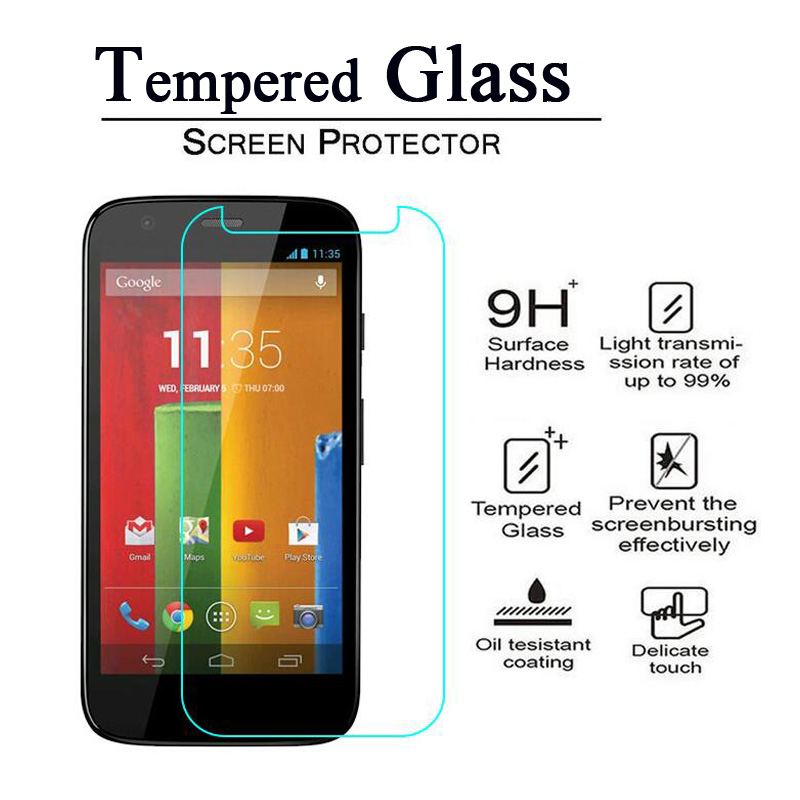 2.5D 9H Premium Tempered Glass Screen Protector for MOTO X X2 X Play Style For Motorola E E2 E3 G G2 G3 G4 PLUS Protective Film