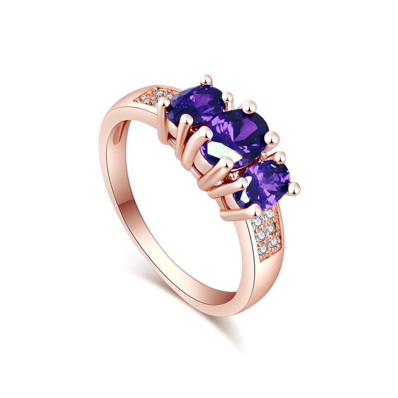 SHUANGR Brand Design Gold Silver Color Cubic Zirconia Red Purple Crystal Wedding Rings For Women Engagement Fine Jewelry femme