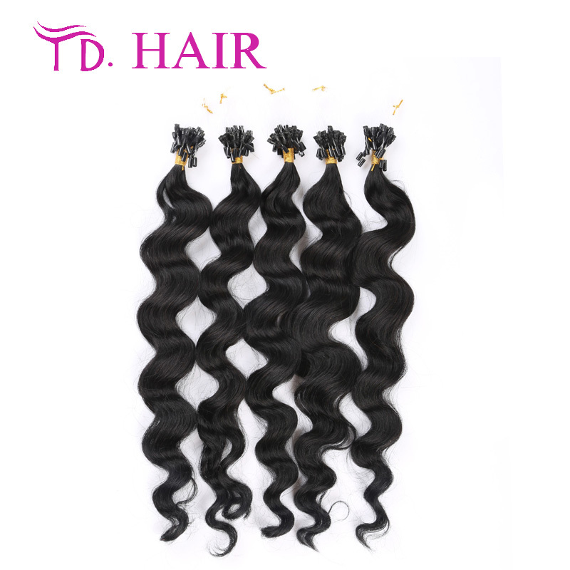 #1 micro loop human hair extensions black color micro loop ring hair extensions curly double drawn afro kinky curly hair