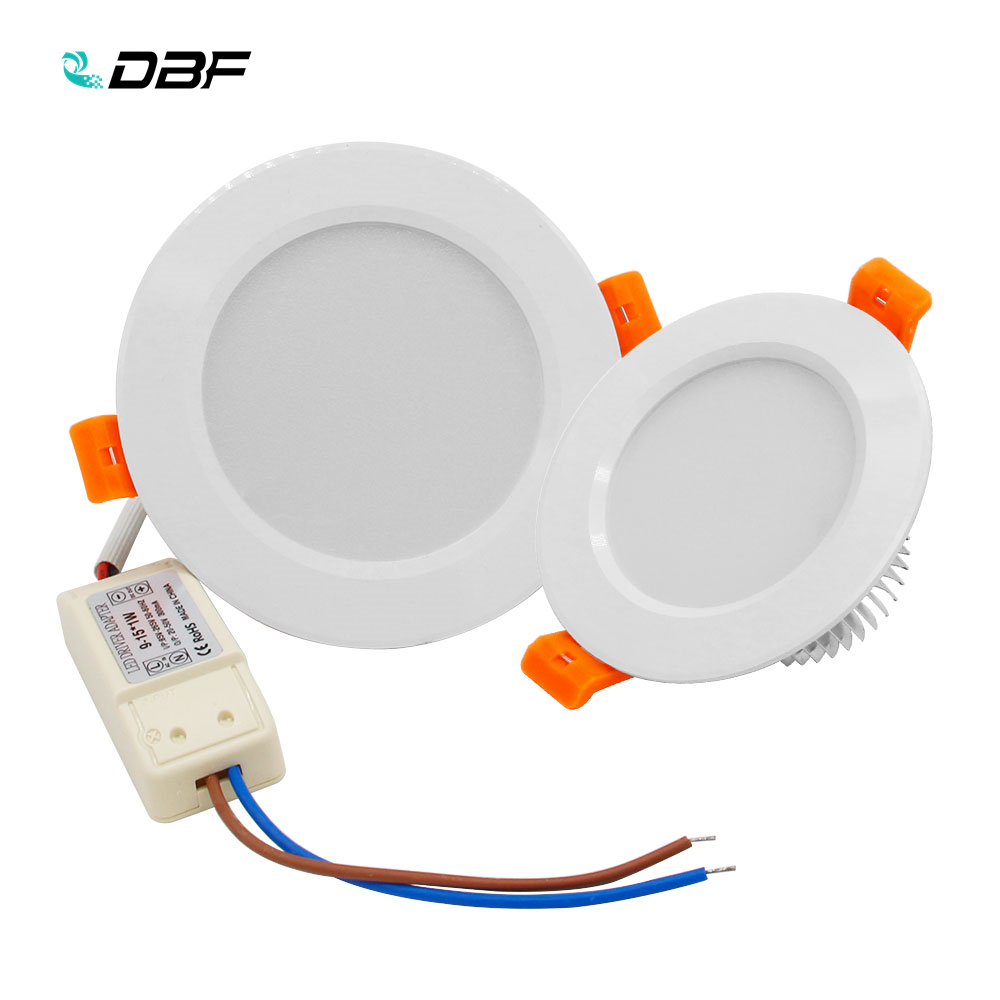 [DBF]New White LED Recessed Downlight Not Dimmable 5W 7W 10W 12W LED Ceiling Spot Lamp With AC110V 220V LED Driver Home Decor