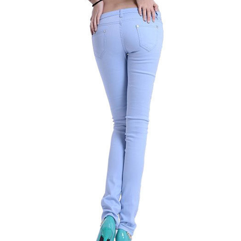 2018 new pantalones Mujer casual pants jeans women Candy Colored Skinny Leggings Stretch Pencil Pants Women trousers Plus size
