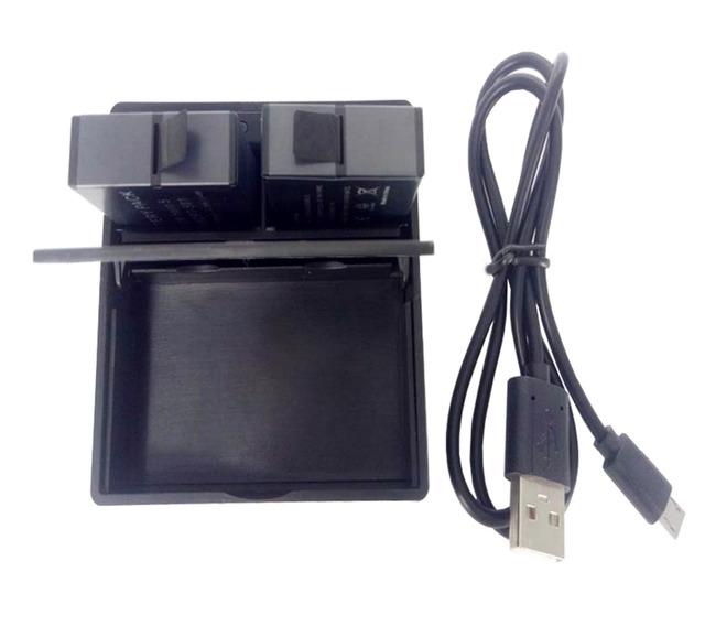 2en1 cargador de viaje + case caja de almacenamiento para cámara de acción gopro hero 5 negro ahdbt-501 batería