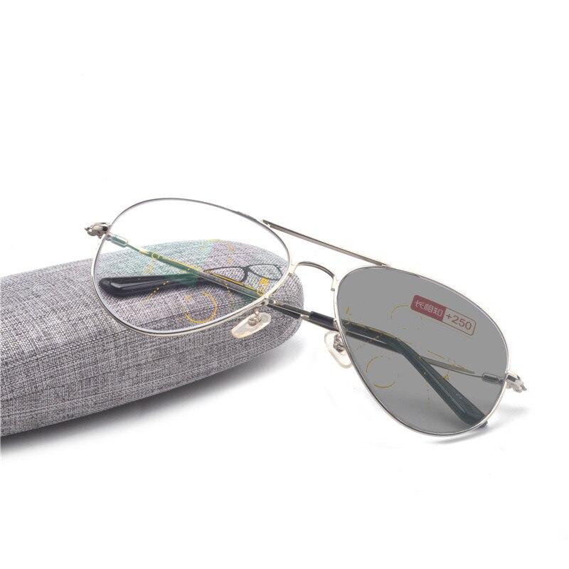 1b41187b91dfe Marca Homens Óculos De Leitura Hipermetropia Presbiopia Lente Multifocal  Progressiva Bifocal Óculos de Sol Fotocromáticas óculos