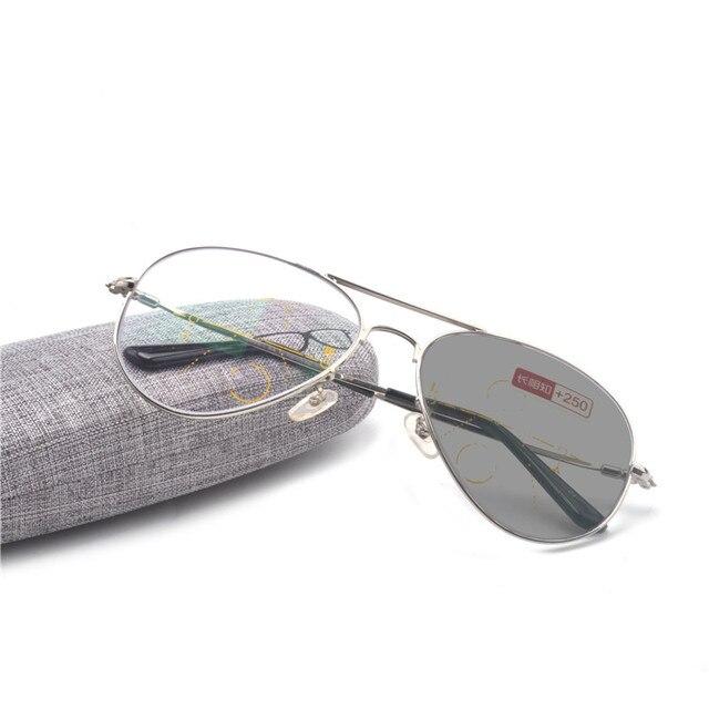 2c88cf8193 Brand Progressive Multifocal Lens Reading Glasses Men Presbyopia Hyperopia  Bifocal Glasses Sun Photochromic eyeglasses NX