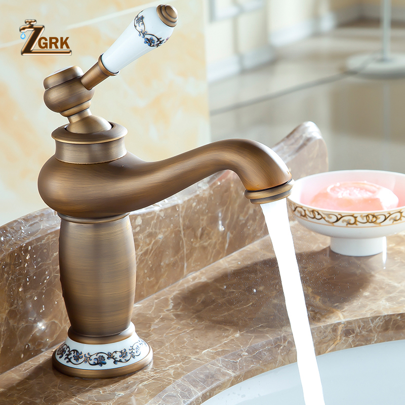 Good Quality Mordern Bathroom Faucet Antique Bronze Finish Brass Basin Sink Faucet Single Handle water Tap contemporary concise bathroom faucet antique bronze finish brass basin sink faucet single handle water taps dona2118