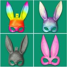 Горячая Распродажа, сексуальная маска с заячьими ушками для женщин и девочек, маска с милыми заячьими ушками, маска для связывания на Хэллоуин, маскарад, вечерние, косплей, костюм KTV, реквизит