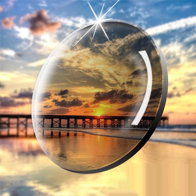 1 67 Aspherical Intelligent Photochromic Blue Light Blocking Resin Lens Myopia Presbyopia Astigmatism Optical Prescription Lens