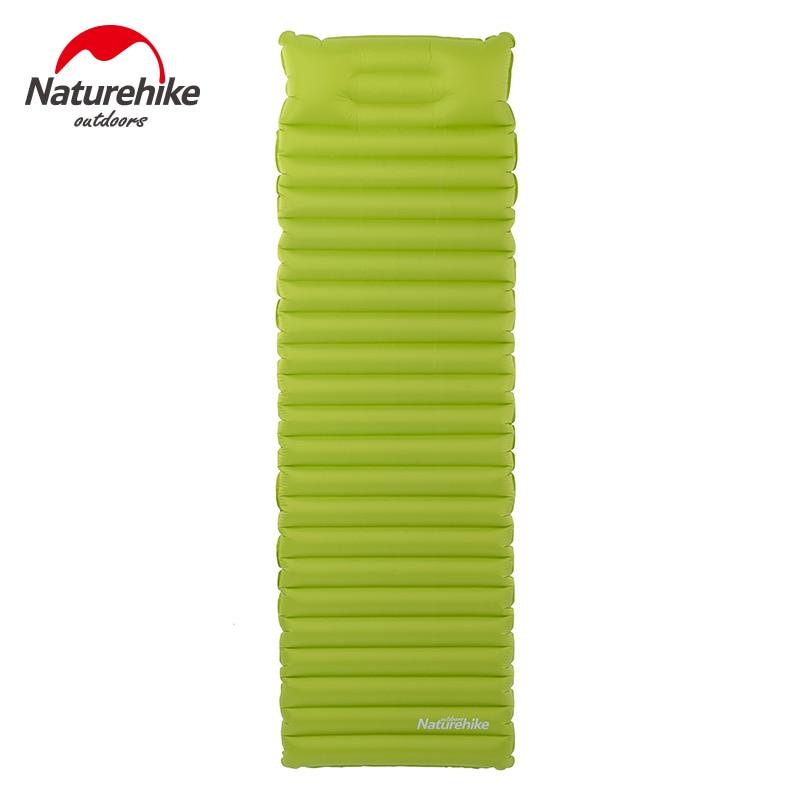 Naturehike <font><b>Air</b></font> Inflatable Mattress Breathable Camping Mat Sleeping Pad Travel Moisture-proof mat TPU <font><b>air</b></font> mattress With Pillow