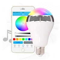 AKDSteel LED Wireless Bluetooth RGB Speakers Light Bulb Music Playing Color Changing Lamps with Remote Control