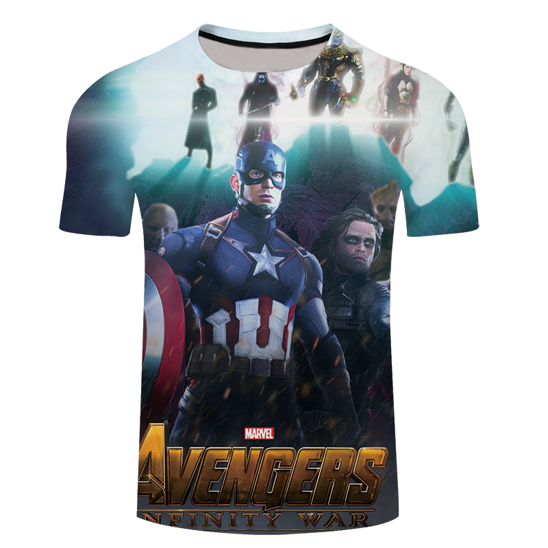 3D T-shirts Men Avengers Infinity War 3D Print Summer Streetwear Hot Sale Short Sleeve Tees Shirt Top Fitness 5XL