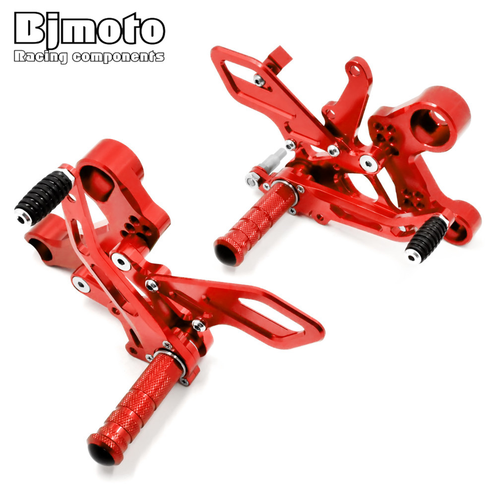 Bjmoto 2016 Motorcycle MT-09 FZ-09 CNC Adjustable Rear Sets Rearset Footrest Foot Rest Pegs For Yamaha MT09 FZ09 2013-2017 motorcycle cnc adjustable rider rear sets rearset footrest foot rest pegs for ktm duke 125 200 390 2011 2012 2013 2014 2015 2016