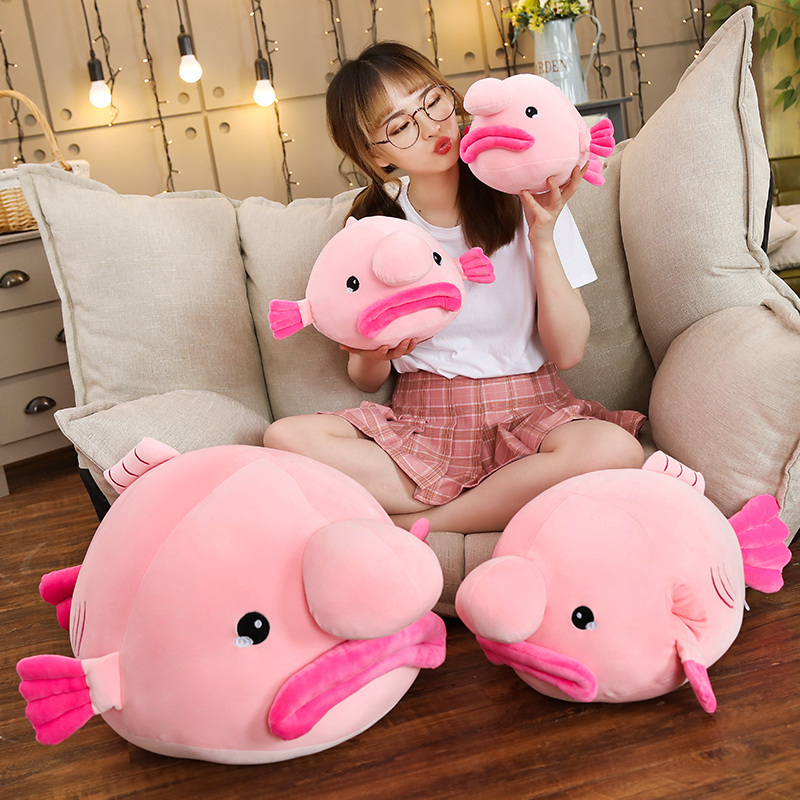 New 1pc 35cm/45/55/85cm New Water Drop Fish Plush Toy Stuffed Plush Pillow Ugly Fish Doll Creative Gift Send To Children Baby