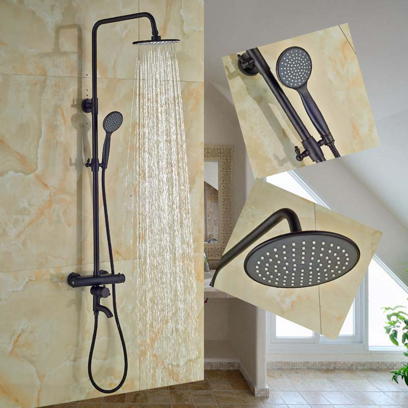 Oil Rubbed Bronze Thermostatic Valve Valve Mixer Tap Hand Shower Sprayer Tap