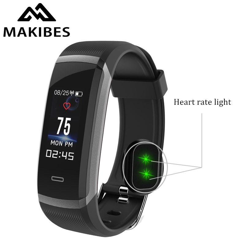 Makibes HR3 Bluetooth 4.0 Wristband Men Women Waterproof Color Screen Bracelet Continuous Heart Rate Monitor Fitness Smart Band цена 2017