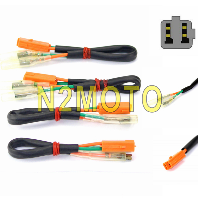 4pcs Turn Signal Wire Connectors Plug Indicator Adapter Cabel for Kawasaki  Z750 Z800 Z900 Z1000 Ninja 300 250R ZX6R ZX9R| | - AliExpress AliExpress