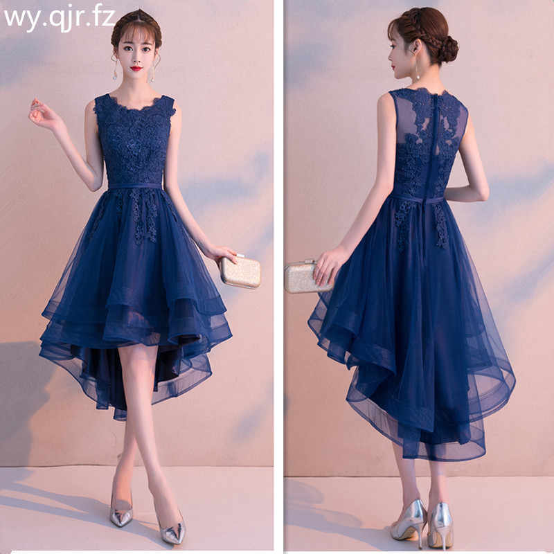 10cd454f21a599 MLS100#Front short back length dark blue wine red lace short Bridesmaid  Dresses wedding party