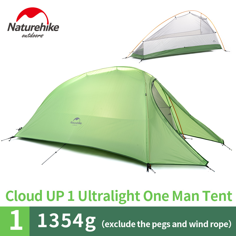 naturehike 1 man lightweight camping tent outdoor hiking backpacking cycling ultralight waterproof single 1 person tentin tents from sports u0026