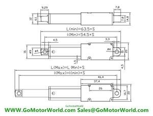 Image 5 - 12 فولت 6 فولت جديد صغير الخطي المحرك مع قوس 10 مللي متر 21 مللي متر 30 مللي متر تعديل السكتة الدماغية 150 مللي متر/ثانية سرعة شحن مجاني