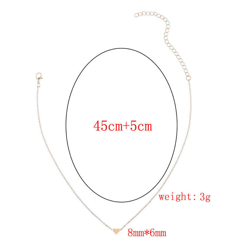 RE New Heart Circle Necklace For Women Short gold chain Pendant Choker Necklace Fashion Jewelry Gift W2445