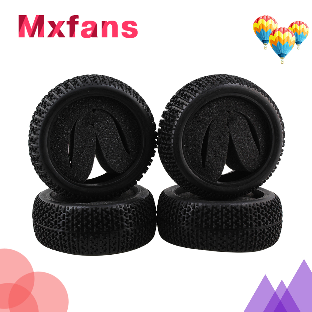 Mxfans 4x T Type Pattern Sponge Insert Rubber Tyre for RC 1:8 Off Road Black Color блендер bosch msm66020 msm66020