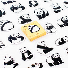 40pcs Black and White Chinese Pandas Memo Stickers Pack Posted It Kawaii Planner Scrapbooking Stationery Escolar School Supplies(China)