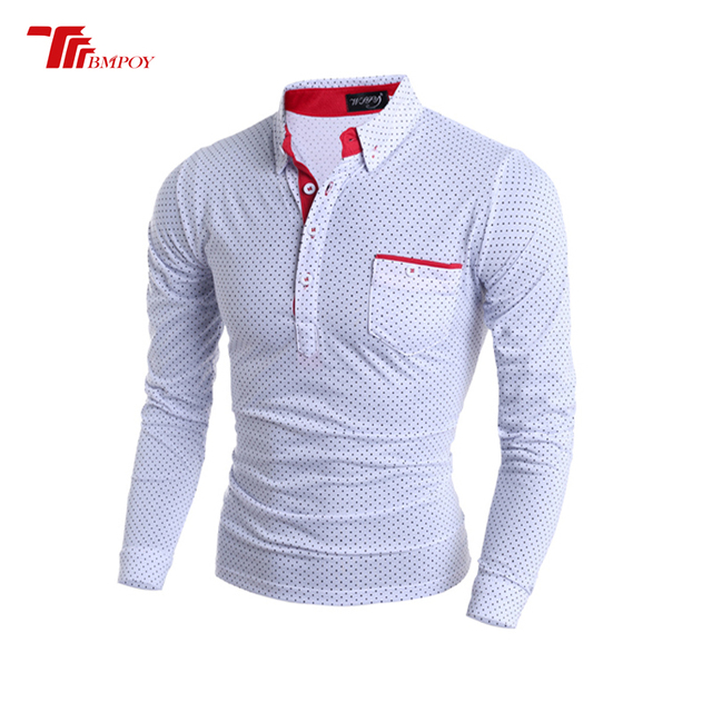 c19bb8ee Polo Shirt Mens Polka Dot Printed POLO Shirts Cotton Short Sleeve Camisas  Polo Casual Turn Down Collar Male Polo Shirt