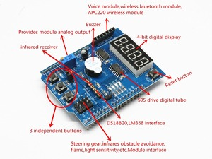 Multifunctional expansion board kit based learning for arduino UNO r3 LENARDO mega 2560 Shield(China)
