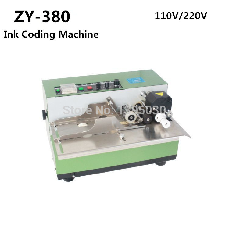 1pcs ZY-380 Automatic Coding machine plastic bag printer date printer ink coding machine