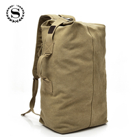 SCIONE Large Capacity Backpack Multifunctional Travel Hiking Bags Unisex Canvas Bagpacks High Quality Rucksack NN012