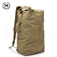 SCIONE Large Capacity Backpack Multifunctional Travel Hiking Bags Unisex Canvas Bagpacks High Quality Rucksack NN012