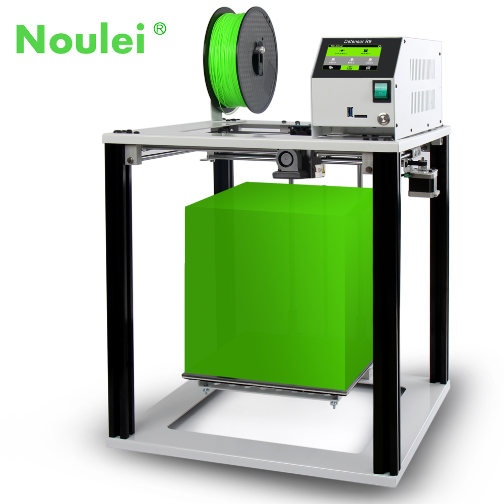 2018 Touch Screen Easy 3D Printer Defensor R9, Full Metal Aluminum Frame 3 D Impresora Large Size 260x260x280mm jada