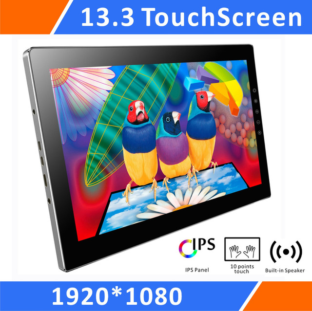 """13.3""""IPS Touchscreen Portable Monitor 1080P FHD LCD Display For Raspberry Pi3 2B B A+ PS3 PS4 WiiU Xbox360 PC Game Monitor T133A"""